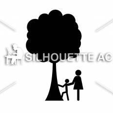 木登りシルエット イラストの無料ダウンロードサイトシルエットac