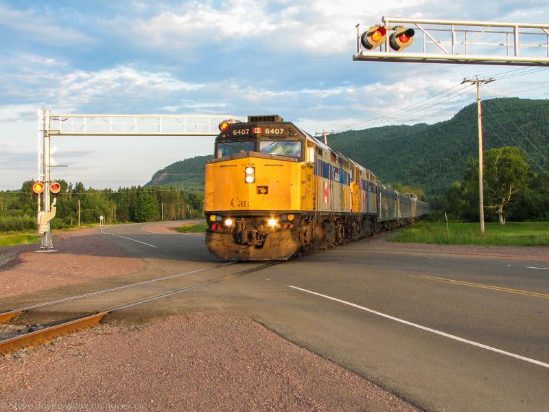 VIA 6407 crossing highway 132