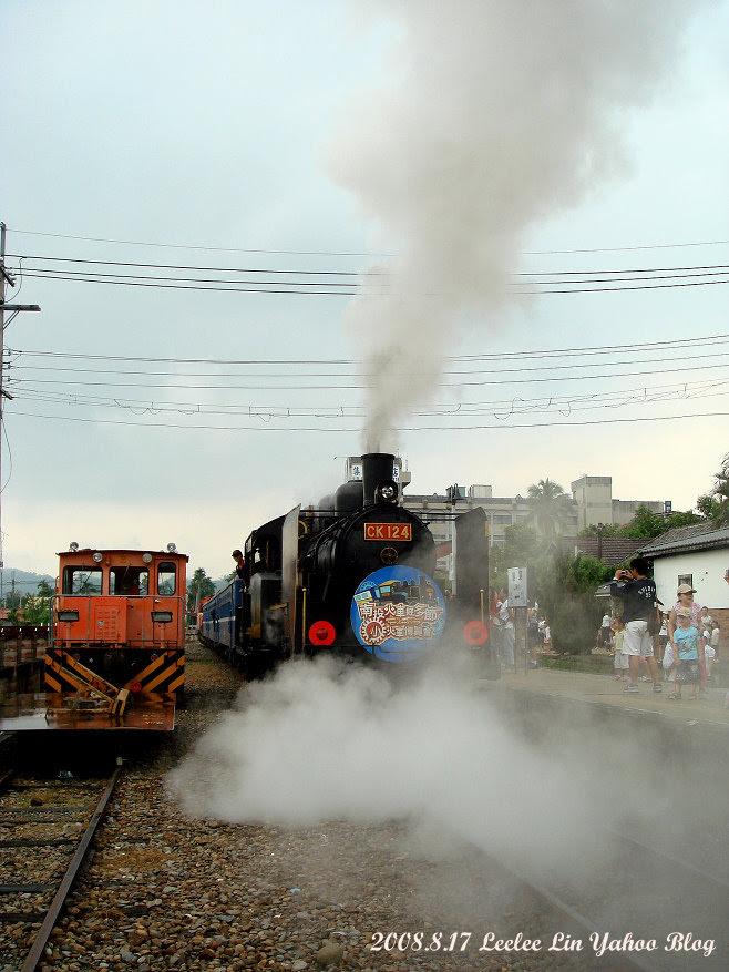 集集車站火車好多節活動 CK124老火車頭 南投集集旅遊景點