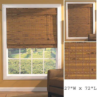 Check Out Window Blind Havana Bamboo Roman Shade In Pecan 27 X