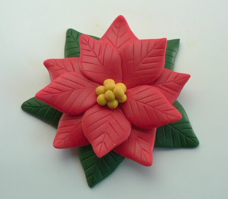 polymer clay poinsettia tutorial