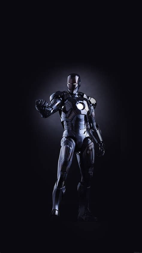 papersco iphone wallpaper al ironman dark figure