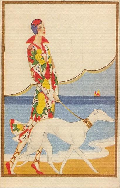 Art Deco Postcard, 1920s