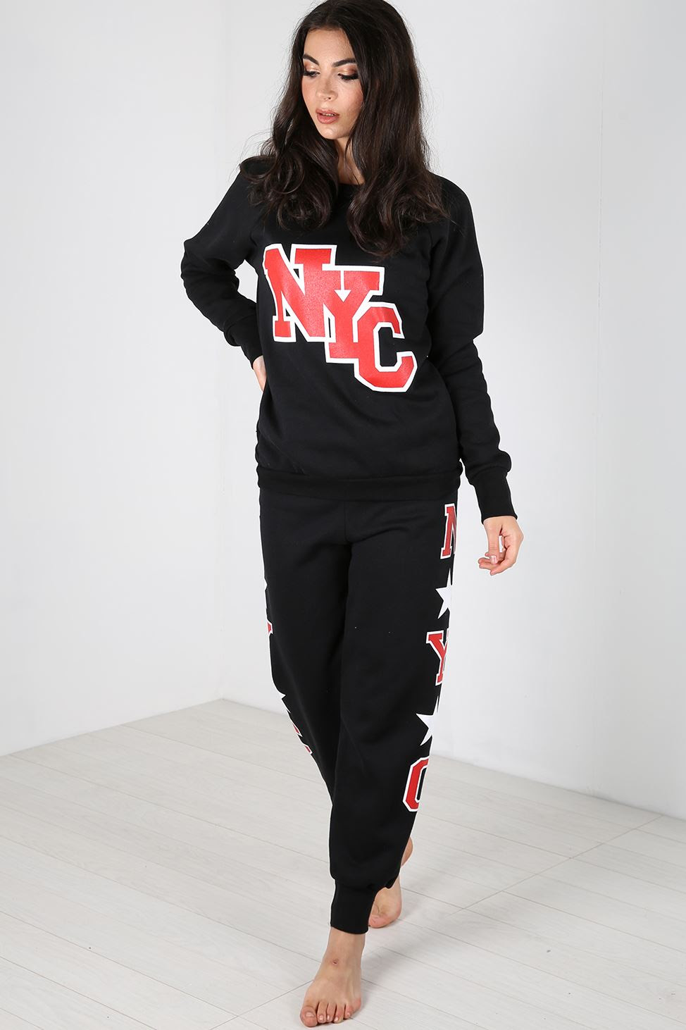womens nyc tracksuit essentials gym jog suit bottoms