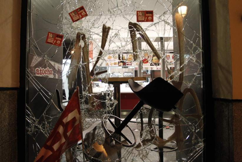 Disturbios en Atocha