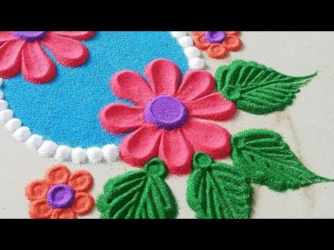 Rangoli making video! Top Rangoli! Easy Rangoli! Best Muggulu! Festival special!