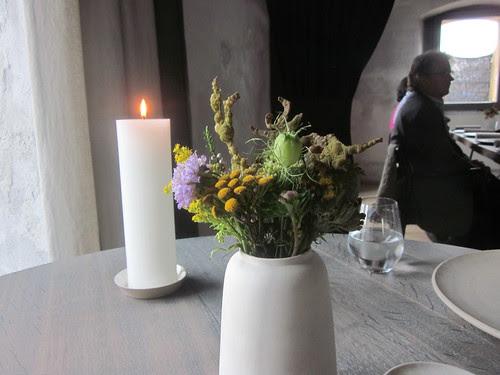 Noma - Copenhagen - August 2012 - Flatbred with Malt Flour and Juniper (in vase)