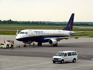 An Embraer 175, one of the newest and most suc...