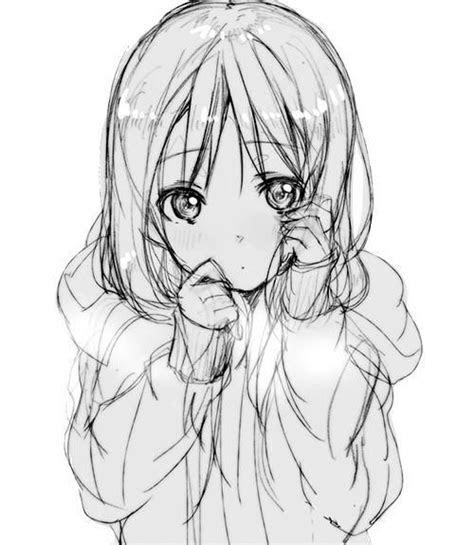 anime child cute drawing digital art girl long hair