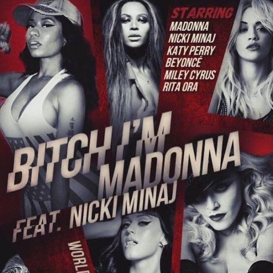 Madonna :  Bitch, I'm Madonna (Video) photo bitch-madonna-video-poster-560x560.jpg
