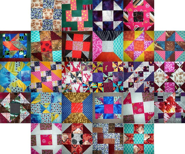 26 blocks from the Quilting Gallery's Beginner's Quilt Along
