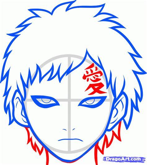 draw gaara easy step  step naruto characters