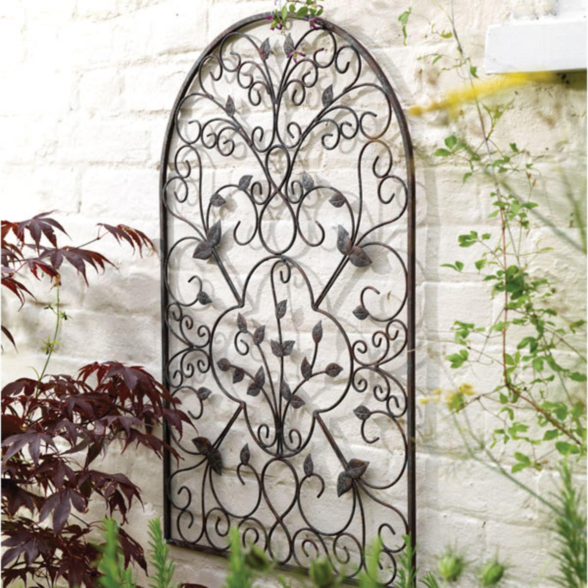wrought iron wall art for the garden