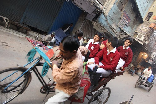 Pulling The Future Of The Nation - The Delhi Rickshawala by firoze shakir photographerno1