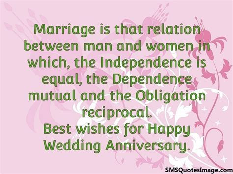 Happy Wedding Anniversary   Marriage   SMS Quotes Image