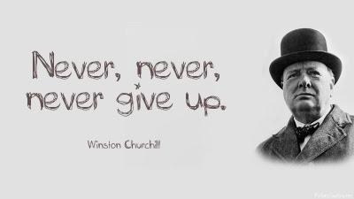 Afbeeldingsresultaat voor churchill never never give up