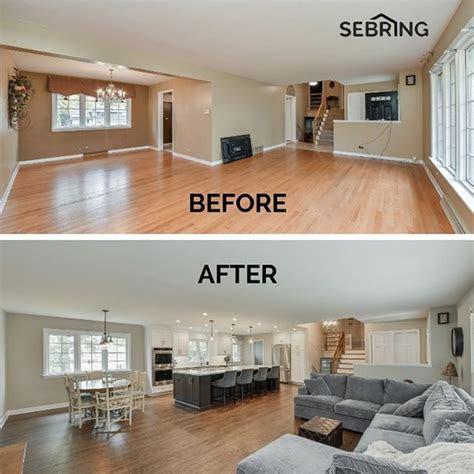 remodeled  kitchen  living room