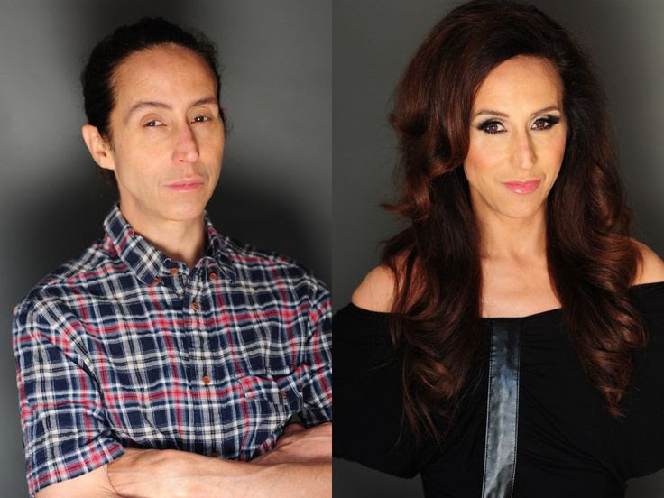 Makeup transformation by Jessica deBen. Male female transgender drag. Makeover. Before and After.