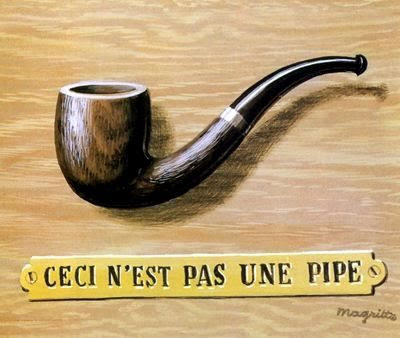 The treachery of images (This is not a pipe), 1966 Rene Magritte