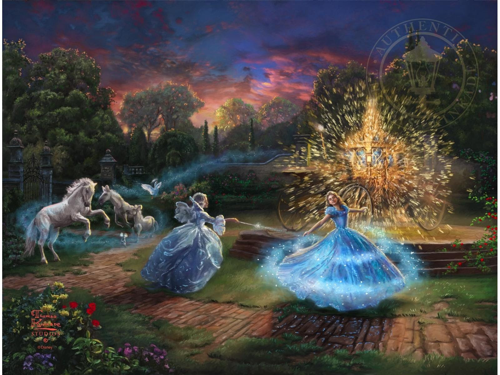 Disney Limited Edition Canvas Collection Cinderella Wishes