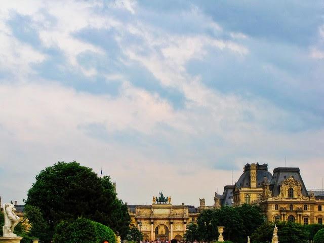 Looking Back at the Arc de Triomphe du Carrousel