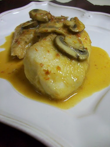Tilapia poached in Chipotle Mushroom Broth