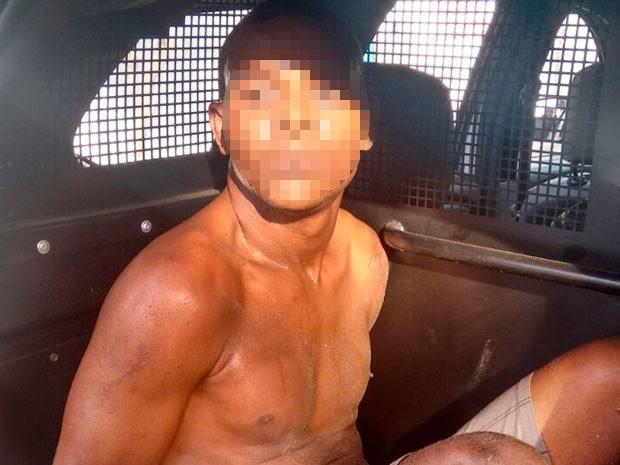 Agressor foi detido pela Guarda Munucipal e depois preso em flagrante (Foto: Divulgação / Guarda Municipal)