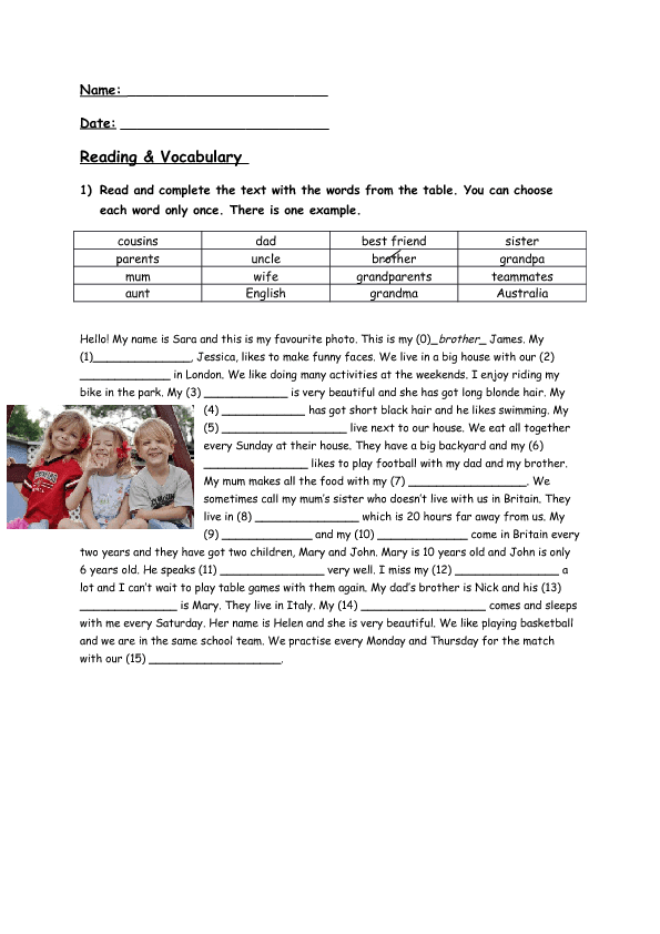 346 FREE Family Friends Worksheets