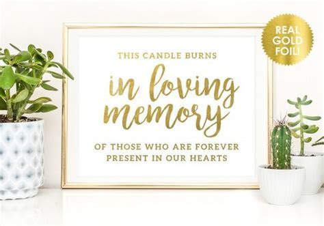 This Candle Burns In Memory Signs / In Loving Memory