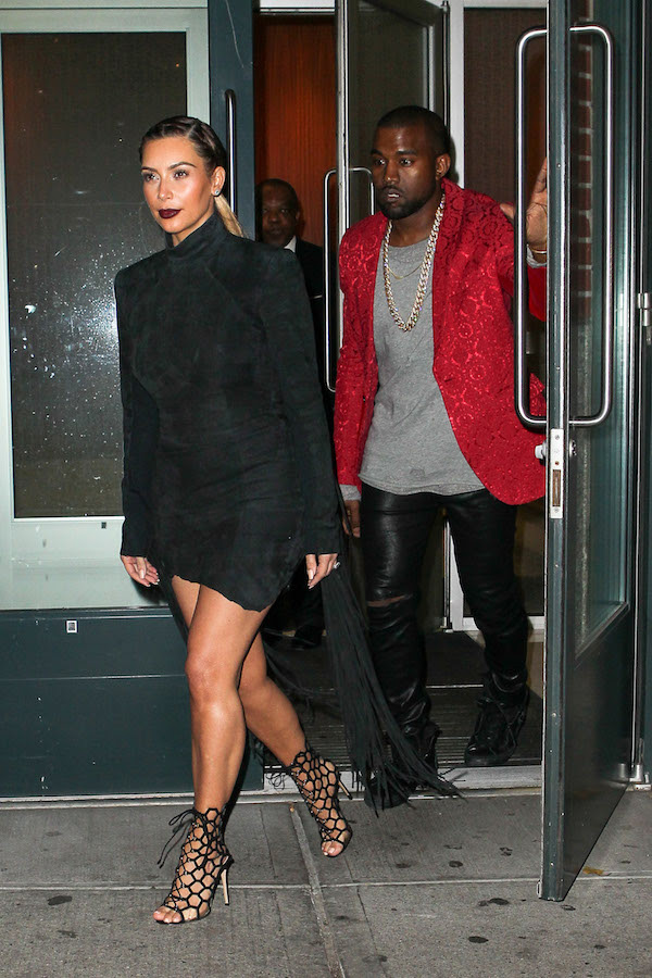 Kim and Kanye head to the Madison Square Garden for Kanye's concert