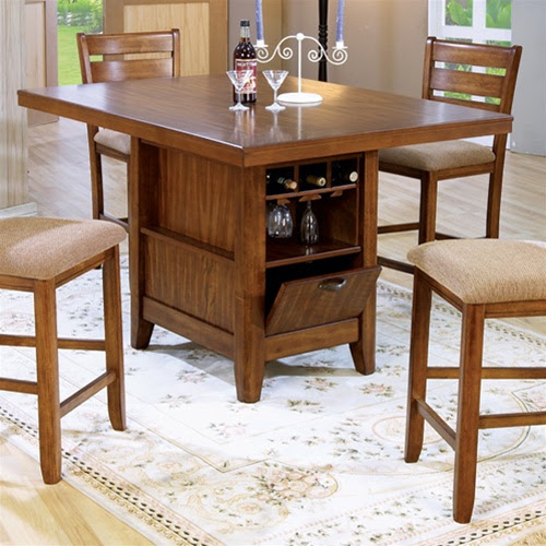 Counter Height 5 Piece Dining Table/Kitchen Island Set ...