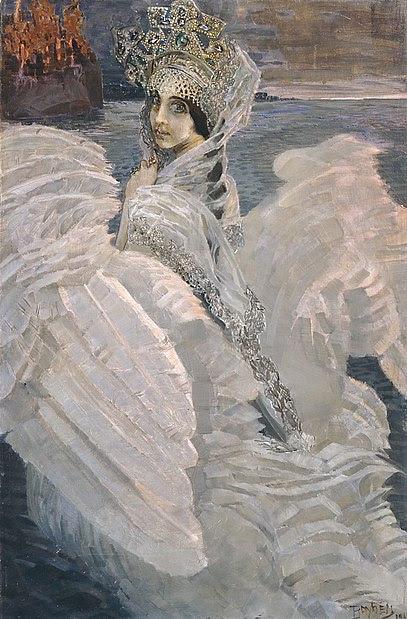File:Tsarevna-Lebed by Mikhail Vrubel (brightened).jpg
