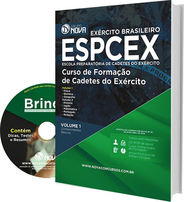 Apostila concurso EsPCEx 2016 Oficial de Carreira do Exército Brasileiro.