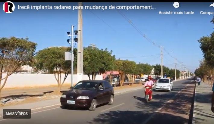 Radares começam a funcionar em Irecê no início de junho em três principais avenidas