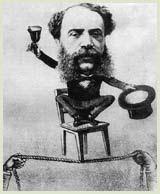 """Caricatura di Biancheri da """"Il Fischietto"""", 1875"""