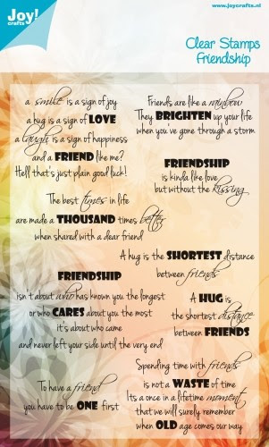 Noor! Design - Friendship- Clearstamp tekst ENG