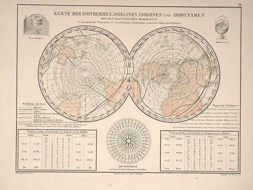 Atlas zu Alex. v. Humboldt's Kosmos in zweiundvierzig.. (geographical infographic) b