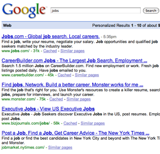 Search for Jobs on Google