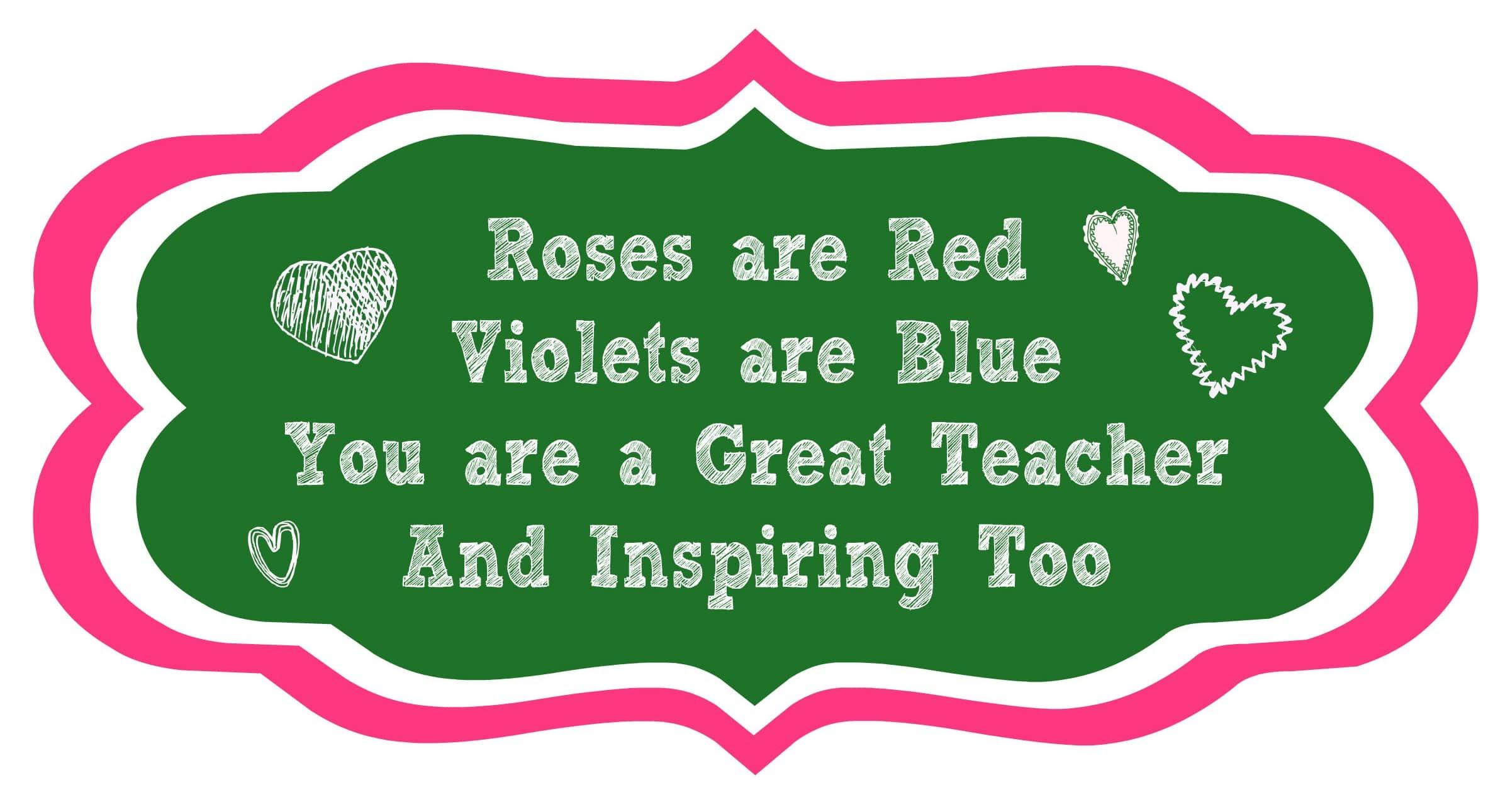 valentine poems for teachers