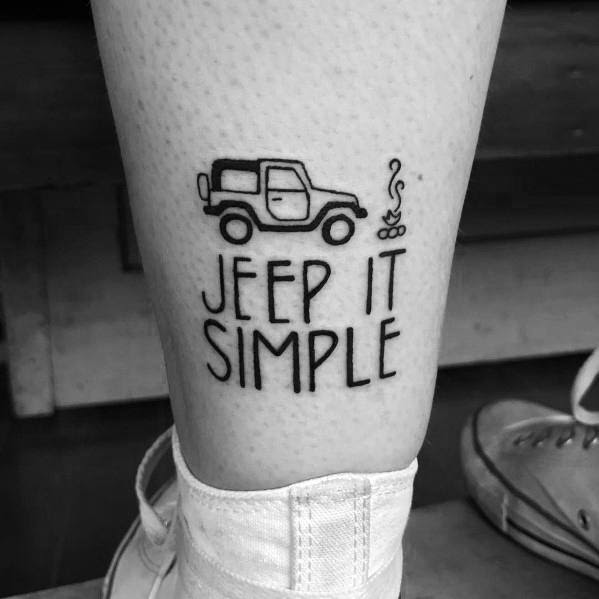 Manly Jeep Tattoos For Males
