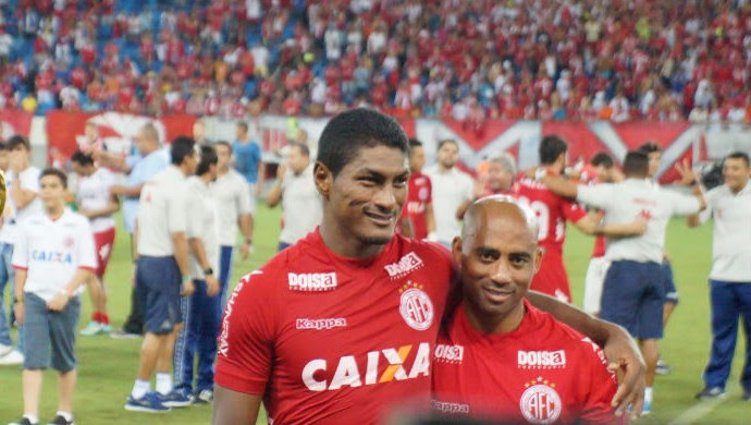Cascata e Max decidem e América-RN é campeão do primeiro turno no RN (Foto: Augusto Gomes/GloboEsporte.com)