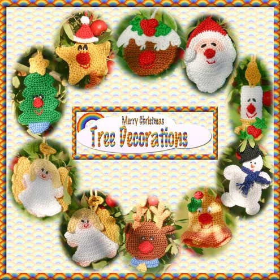 Christmas Tree Decorations Crochet Pattern pdf