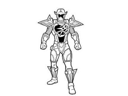 Aiden Le Ranger Doré Coloriages Goodies Power Rangers