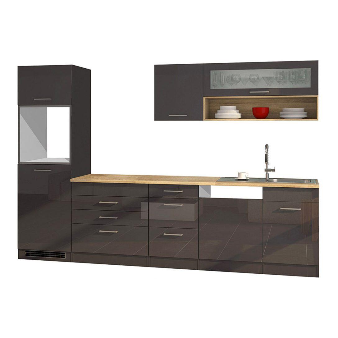 Ikea Küche Metod Grau Hochglanz Mit Holz Arbeitsplatte ...