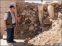Restos de la estatua de Marco Aurelio en las ruinas de Sagalassos (Copyright: Proyecto de Investigación Arqueológica de Sagalassos)