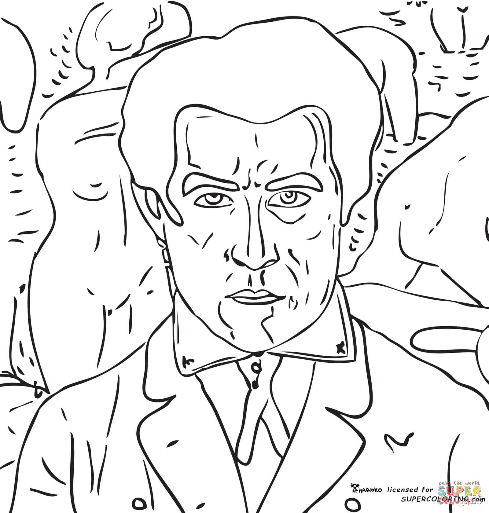 Download You Self Portrait Coloring Pages