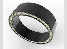 Black Gold Diamond Mens Wedding Ring   Vidar Jewelry   Unique Custom Engagement And Wedding Rings