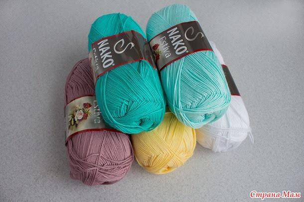 Knitting openwork crochet colored sandpiper