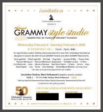 Grammy Style Studio 2008 Invitation