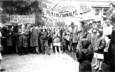 Manifestación en Bruselas en solidaridad con los mineros asturianos. Foto cedida por Fundación Juan Muñiz Zapico